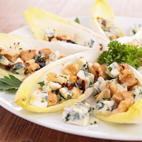 Cheese, Bacon, and Cranberry Endive Boats